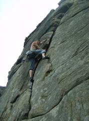 Mike on Right Unconquerable Hvs 5a Stanage