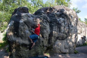 Bouldering at Font