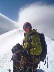 Jess on Mont Blanc